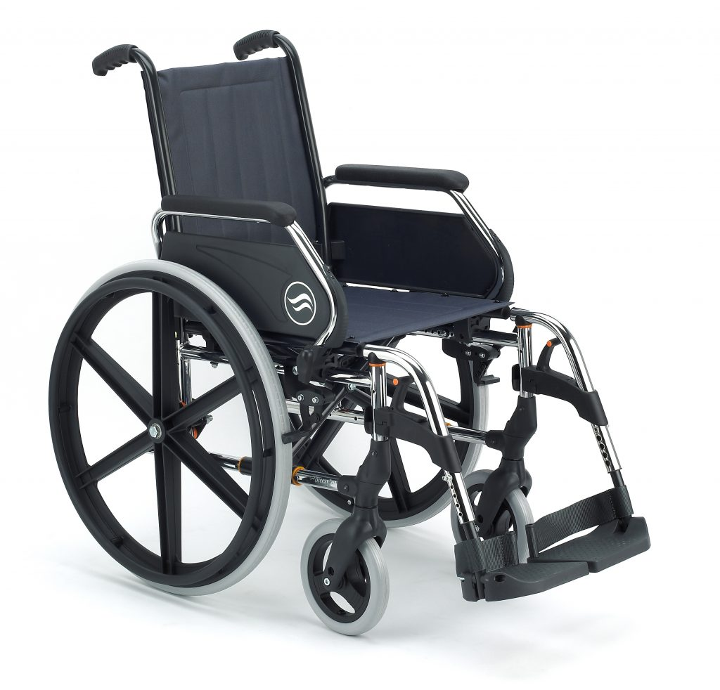 Rent self-propelled and attendant propelled manual wheelchairs Steel and aluminium wheelchairs in Marbella
